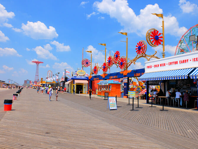 Coney Island in New York - Boardwalk