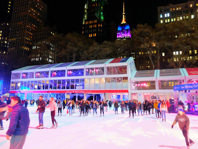 Skating in New York - Bryant park2