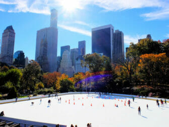 Skating in New York Central Park