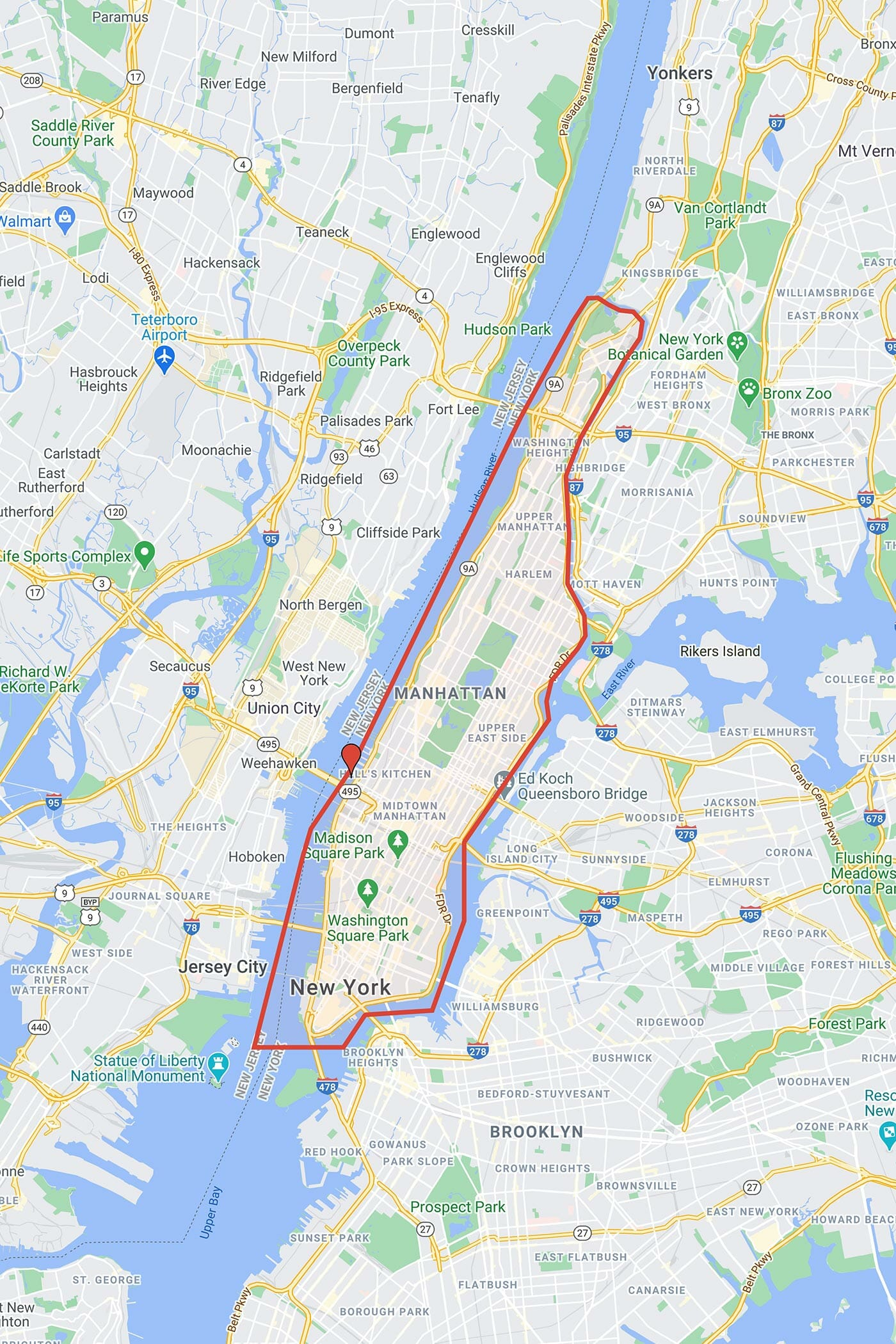 Circle Line Best of NYC Cruise - Route