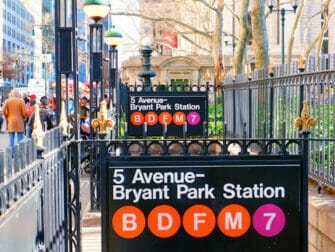 Entrance Subway Stations New York