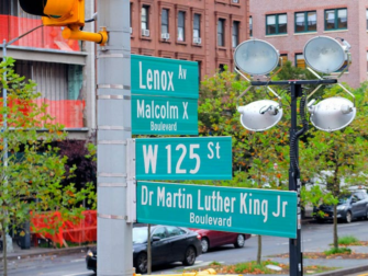 Harlem New York - Street Signs
