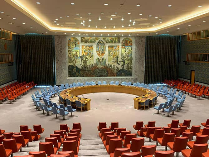 The United Nations in New York - Security Council Chamber