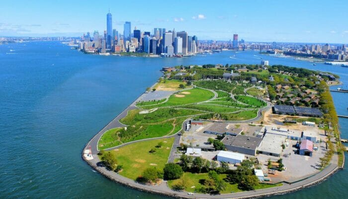 Governors Island New York aereal view