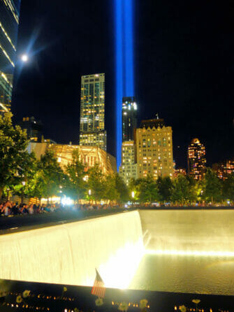 Ground Zero in NYC -Tribute Lights