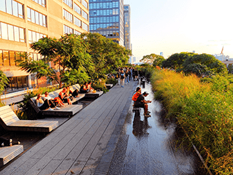 High Line Park in New York - Lounge Chairs