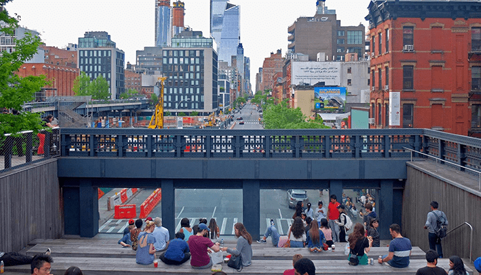 High Line Park in New York - Stairs