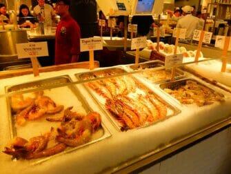 New York Markets - Sea food at Chelsea Market