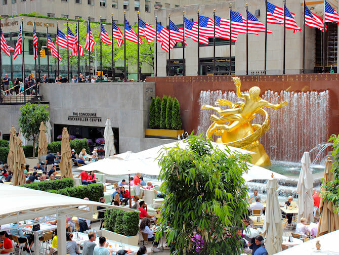Rockefeller Center in New York - Terrace