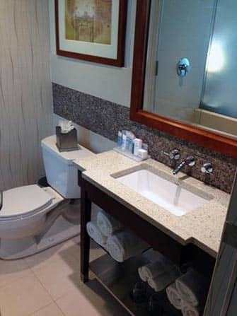 Wyndham Hotel in NYC - Bathroom