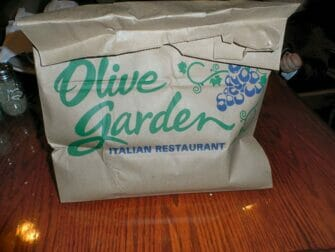 Doggy Bag in NYC - Olive Garden