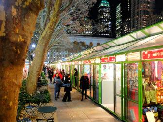Christmas Season in New York Bryant Park 1
