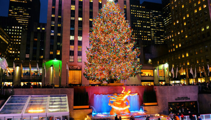 Christmas Season in New York Rockefeller Tree