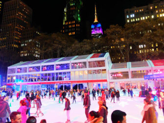 Christmas Season in New York Skating in Bryant Park