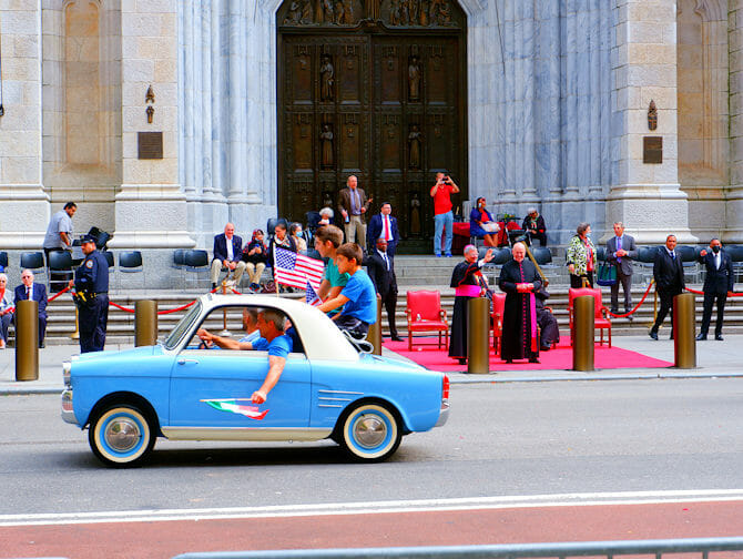 Columbus Day in NYC - Italian students