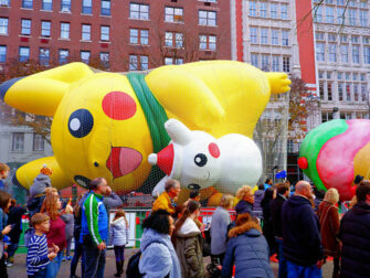 Macys Thanksgiving Parade Inflating Balloons