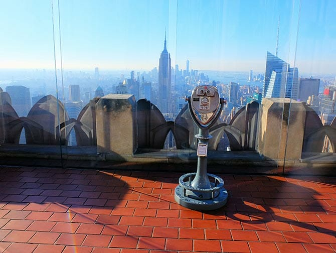 New Year's Day in New York - Top of the Rock at Sunset