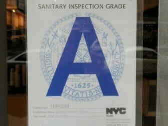 A Graded Restaurant in New York