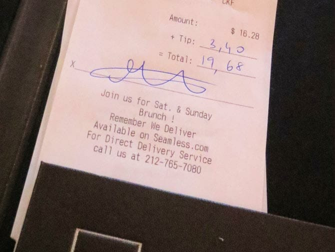 Tipping with Credit Card in New York 300x225