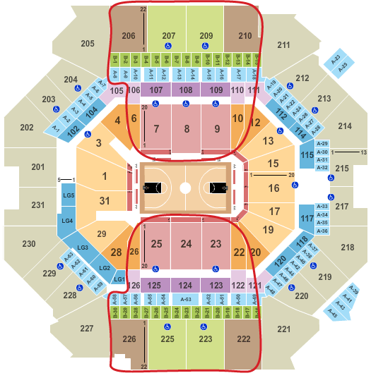 Brooklyn Nets Tickets Barclays Center Seating Chart 1