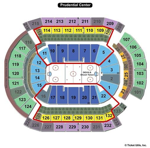 New Jersey Devils - Prudential Center Seating Chart