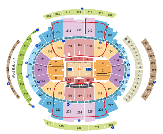 New York Knicks Tickets Madison Square Garden Seating Chart 1