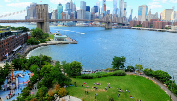 Brooklyn Bridge Park in New York - From Above