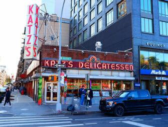 Lower East Side in NYC Katzs Deli