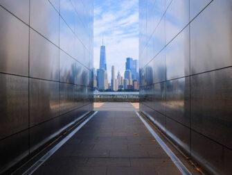 Empty Sky Memorial in New Jersey Skyline View