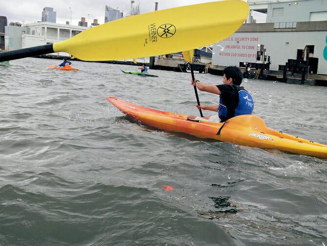 Kayaking in New York Hudson River
