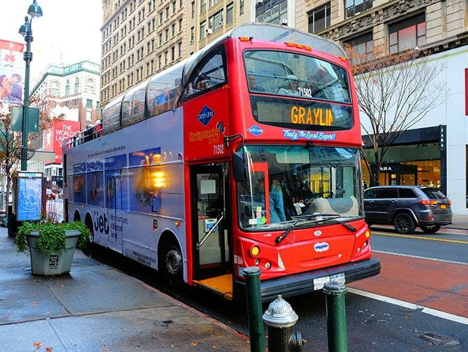 New York Sightseeing Day Pass - Hop-on Hop-off bus