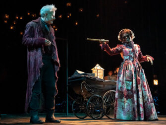 A Christmas Carol on Broadway Tickets Scrooge and The Ghost of Christmas Present