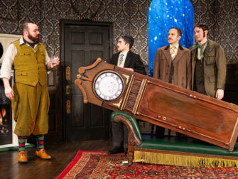 The Play That Goes Wrong in New York Tickets Props