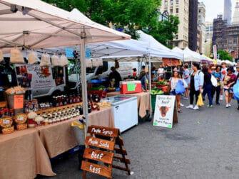 Eco friendly New York trip Union Square Greenmarket