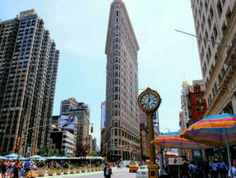 Flatiron Building in New York Clock at the Flatiron Building