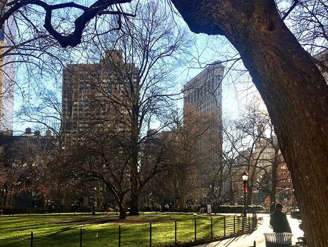Flatiron Building in New York Madison Square Park