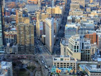 Flatiron Building in New York View