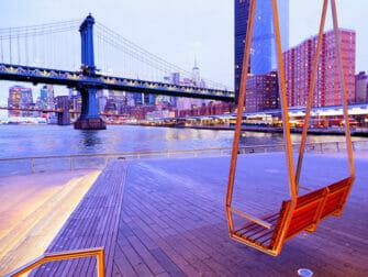Lower East Side in New York Pier 35