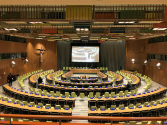 The United Nations in New York Trusteeship Council Chamber