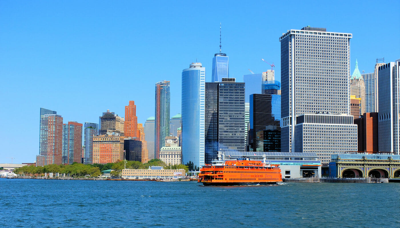 Staten Island in New York Skyline