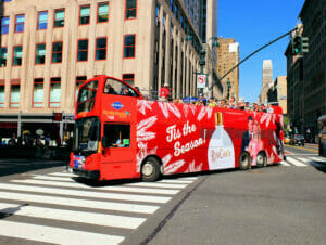 Gray Line Hop on Hop off bus in New York