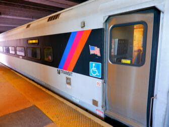 New Jersey Transit in New York Train