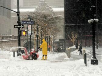 Snow in New York Street